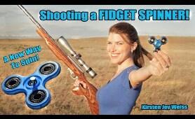Shooting A Fidget Spinner!? - Trick Shots - MAJOR Spin!
