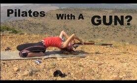 Gun Pilates?? TRICK SHOT! | Shooting | Flexibility | Kirsten Joy Weiss