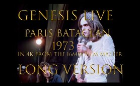 Genesis live, Paris Bataclan 1973 long version, 16mm master in 4k
