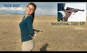 Shooting With Both Hands Tied Behind My Back | Trick Shots