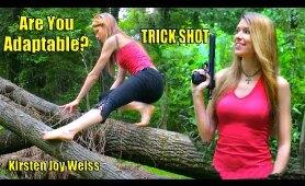 Trick Shots - Balancing on a Shaky Tree - Are You Adaptable?