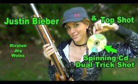 Shooting Through A SPINNING CD? - Trick Shot & A Surprise! | Dual Trick Shot