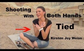 How To Shoot A Rifle With Both Hands Tied - Trick Shot - Kirsten Joy Weiss