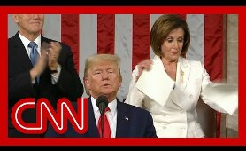 Nancy Pelosi rips up Trump's State of the Union speech