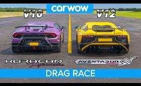 Lamborghini Aventador SV v Huracan Performante  - DRAG RACE, ROLLING RACE & BRAKE TEST