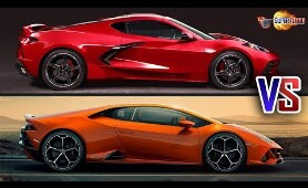 2020 Chevrolet Corvette C8 VS 2020 Lamborghini Huracan | CARS BATTLE